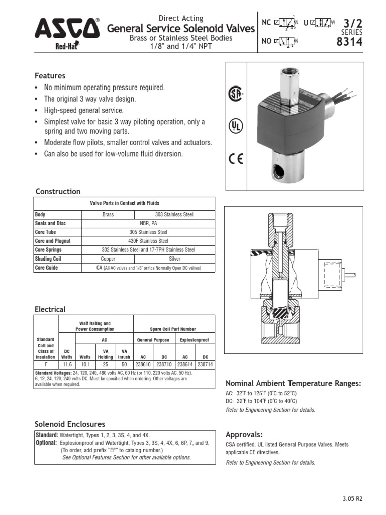 Asco 8314 3 Wiring Diagram Great Installation Of Stainless Steel Wire Asco8314 Valve Gas Technologies Rh Scribd Com Simple Diagrams Basic Electrical
