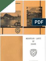 Mountain Lakes of Idaho 1973 8th Printing