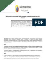 """Proceso Para Calificar Como Operadoras y Acceder a Recursos de La Corporación Nacional de Finanzas Populares y Solidarias """"Conafips"""""""