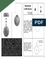 Résonateur à Effet Dumas Notice-p-1