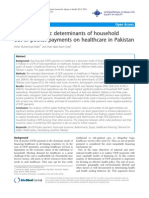 Socio-economic Determinants of Household Out-Of-pocket Payments on Healthcare in Pakistan