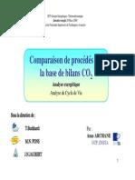 Comparaison de Procédés Sur La Base de Bilans CO2