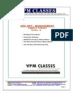 Ugc Net_management_paper Iii_free Sample Theory_english Version