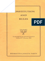 Constitution of Bharatiya Janata Party