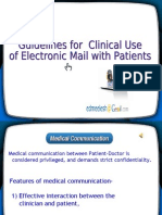 Email Communication between Doctors and patients