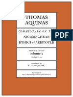 Thomas Aquinas Commentary on Aristotle's  Ethics 2 Books 6 to 10