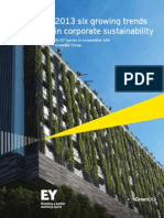 Six Growing Trends in Corporate Sustainability 2013