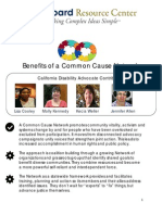 Benefits Of A Common Cause Network