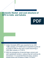 Domestic Market and Cost Structure of BPO India