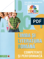 Competente.si.Performanta. Limba.si.Literatura.romana. Clasa.1 Ed.paralela.45. TEKKEN