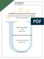 Quimica Organica- Reconocimiento U1