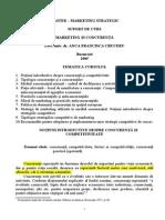 Marketing Si Concurenta - Suport Curs