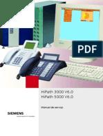 Manual de Serviço HiPath 3000-5000 Versão 6.0