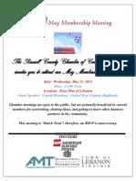 May 21 2014 Membership Meeting Announcement
