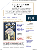 Miracles of the Saints Who Raised the Dead / -People Brought Back to Life Through the Saints
