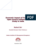 Economic Impact of Free and Open Source Software – A