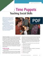 circle time puppets teaching social skills