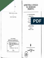 Radcliffe-Brown - Estrutura e Função Na Sociedade Primitiva