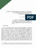 A Logica Modernorum, Lógica e Filosofia Da Linguagem Na Escolástica Dos Séculos Xiii e Xiv