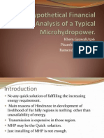 Hypothetical Financial Analysis of a Typical Microhydropower
