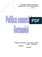 Politica Comerciala a Germaniei