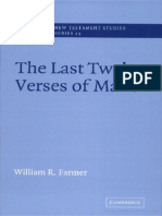 The Last Twelve Verses of Mark William Farmer