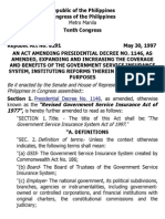 j. Ra 8291 Government Service Insurance System Act