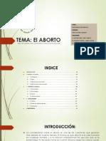 El ABORTO - Fundamento de Derecho 1.1