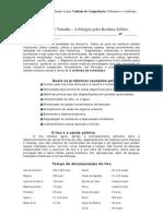 Ficha de Trabalho - A Poluição pelos Resíduos Sólidos