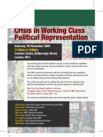 Crisis in Working Class Political Representation