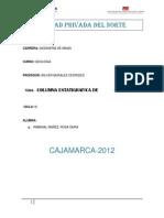 Columna Estatigrafica de Cajamarca