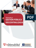 Tríptico Diplomado Gestión Pública Descentralizada