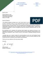 Assemblyman Skoufis PSC-United Water Letter