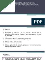 Modelos de Administración Clásica_eficiencia y Eficacia