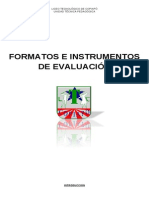 Formatos e Instrumentos de Evaluación