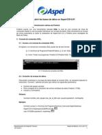 Como Abrir Las Bases de DatosAspel-COI6.0