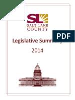 Legislative Summary 2014 - Salt Lake County