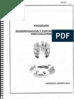 Programa de Modernización y Fortalecimiento Institucional