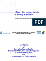 Ground Water Governance - Theory & Practice