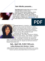 Poetry Month event