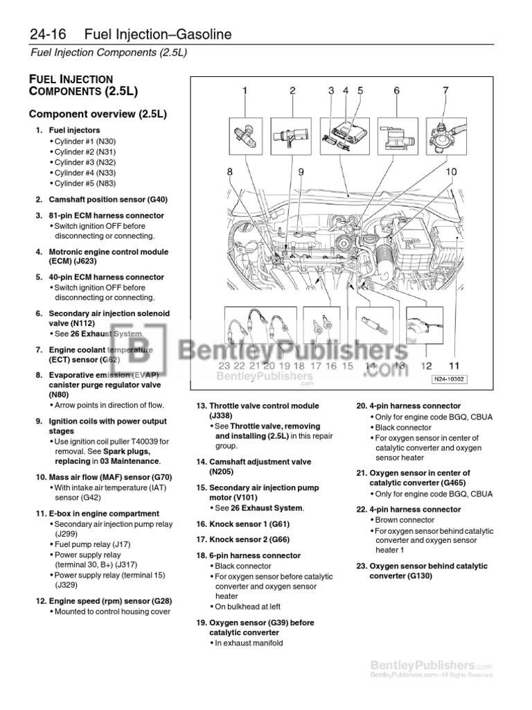 volkswagen jetta  service manual   excerpt fuel injection