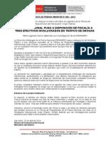 POLICÍA NACIONAL PUSO A DISPOSICIÓN DE FISCALÍA A TRES EFECTIVOS INVOLUCRADOS EN TRÁFICO DE DROGAS.doc