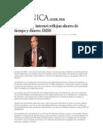 21-04-2014 Crónica.com.mx - Trámites vía internet reflejan ahorro de tiempo y dinero, IMSS.