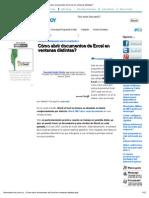 Como Abrir Documentos de Excel en Ventanas Distintas