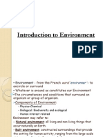 Lec 1 Introduction to Environemnt