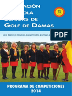 Calendario AESGOLF Damas 2014