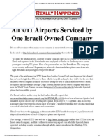 All the 9-11 Airports Serviced by One Israeli Owned Company