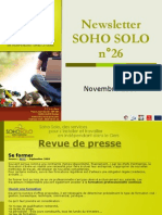Newsletter Soho Solo n26 Novembre 09