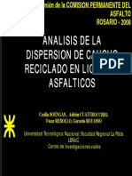 ENSAYO Analisis Dispersion de Caucho en Ligantes Asfalticos