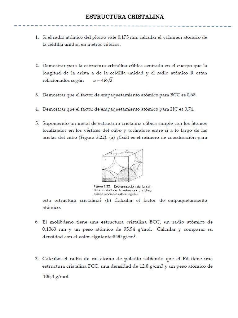 Trabajo De Estructura Cristalina Docx